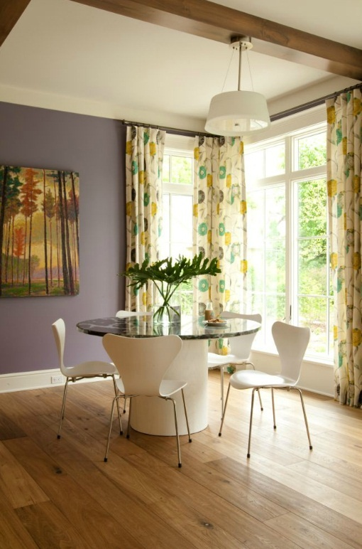 Lavender Walls And Colorful Drapery Design By Kathryn Chaplow. Love The  Walls And Floor! Ideas