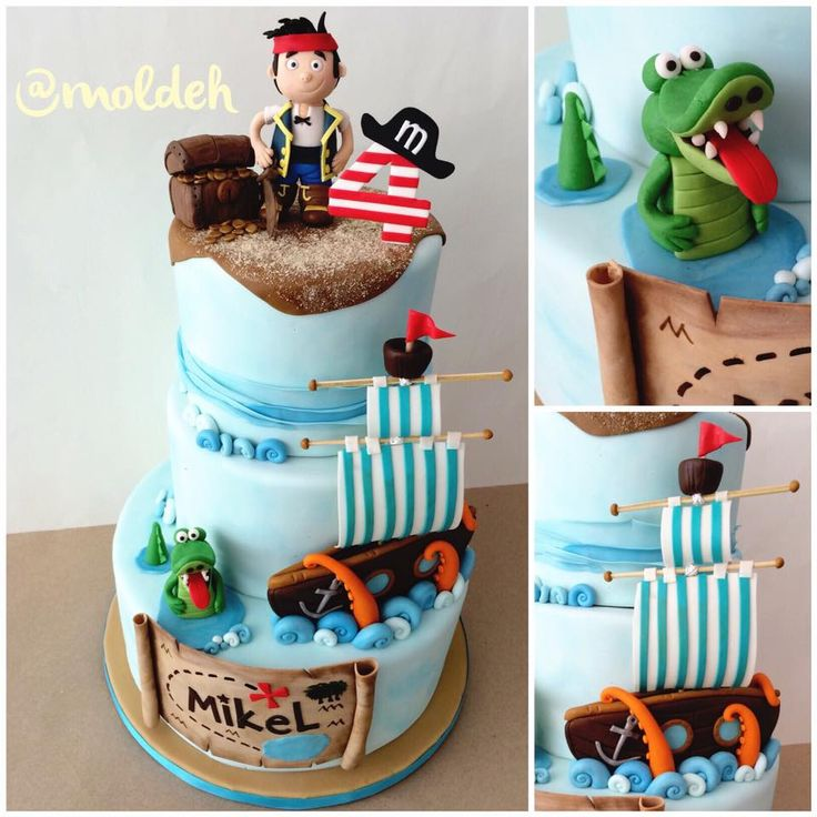 Pastel de pirata Jake // Pirate Jake birthday cake