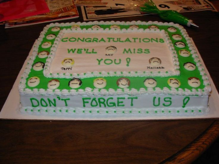 going away cake ideas | New job - going away