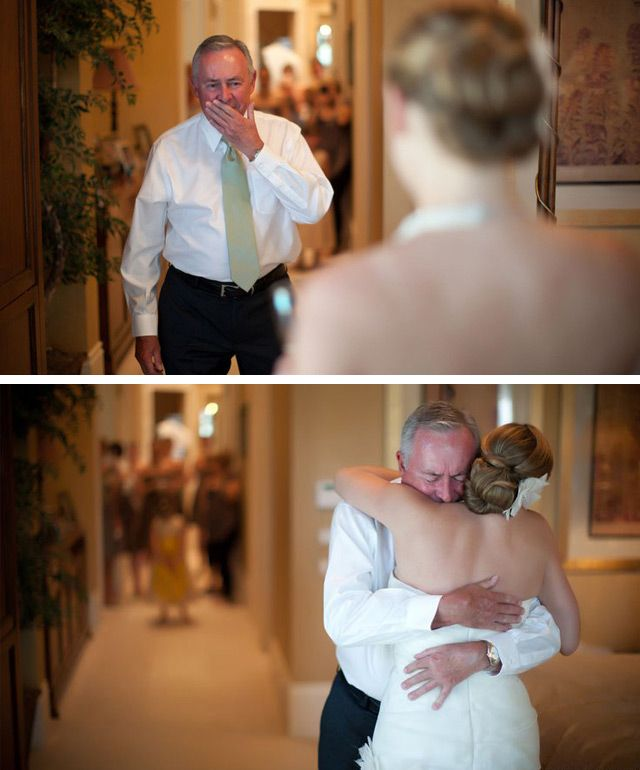First Look with Dad - Mon Cheri Bridals