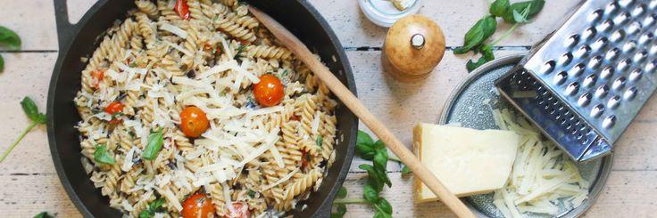 pasta med kremet aubergine