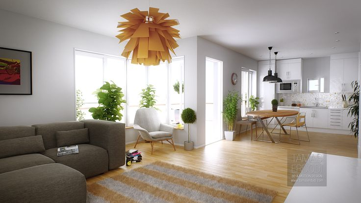 Barnangs interior | tamaserdodi.com #3D #Cinema4D #Maxon #VrayC4D #VrayforC4D #Render #Interior #Wood #Eames #Apartment #Loft