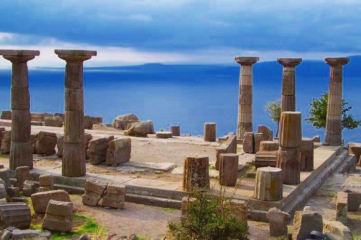 Ancient Greek Temple of Athena - Assos - Minor Asia - Modern Turkey