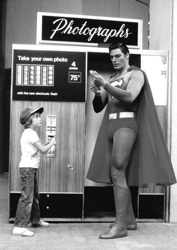 El sueño de todo niño ver a SUPERMAN