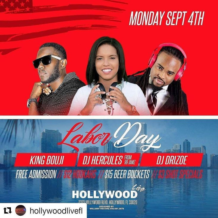 Credit to @hollywoodlivefl  This Monday!!!! Come celebrate Labor Day with us! $12 hookahs $15 beer buckets $3 shot specials! This Monday! Special guest DJ @djhercules15 ! #hollywoodhookah #hollywoodlive #hookahtime  #hookahlife #hookahlifestyle #hookahaddiction #hookahlove    #HollywoodTapFL #HollywoodFL #HollywoodBeach #DowntownHollywood #Miami #FortLauderdale #FtLauderdale #Dania #Davie #DaniaBeach #Aventura #Hallandale #HallandaleBeach #PembrokePines  #Miramar #CooperCity #Plantation…