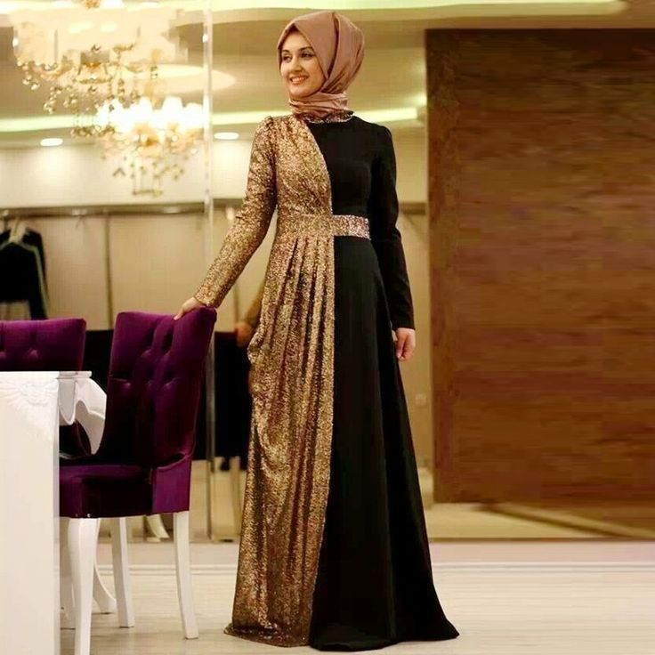 Find More Evening Dresses Information about Gold Sequin 2016 Muslim Evening…