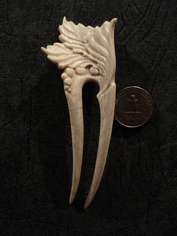 Best images about carved deer antler hair fork hairpin