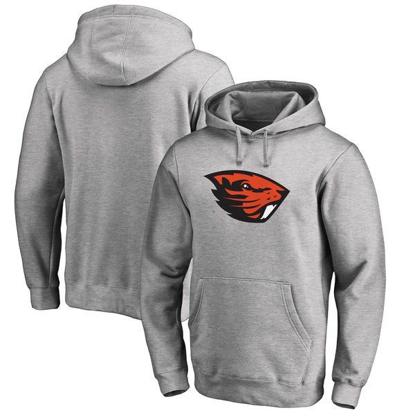 Oregon State Beavers Fanatics Branded Big & Tall Primary Team Logo Pullover Hoodie - Heathered Gray - $49.99