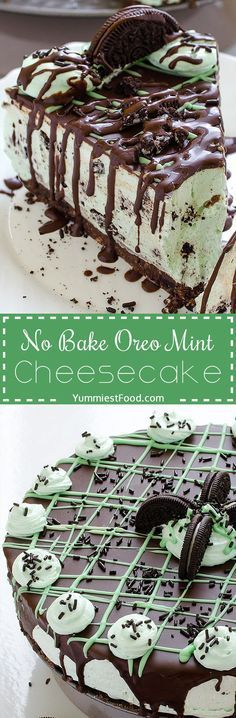 No Bake Oreo Mint Cheesecake - try to make this Cheesecake, and you will see…