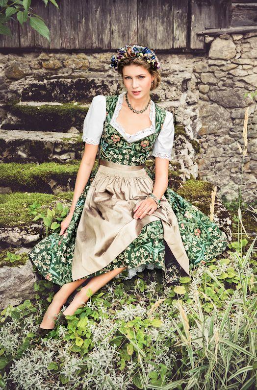"""Lena Hoschek Tradition S/S15 """"Dirndl Waltraud"""" www.lenahoschek.com"""