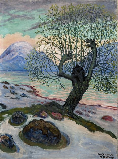 Nicolai Astrup, Norway,  Morning in March,   He should be as famous as Edvard Munch, but the world seems to have forgotten him – until now. Astrup is getting his first major show outside Norway ... and his visions of the Scandinavian landscape are eerie and sublime