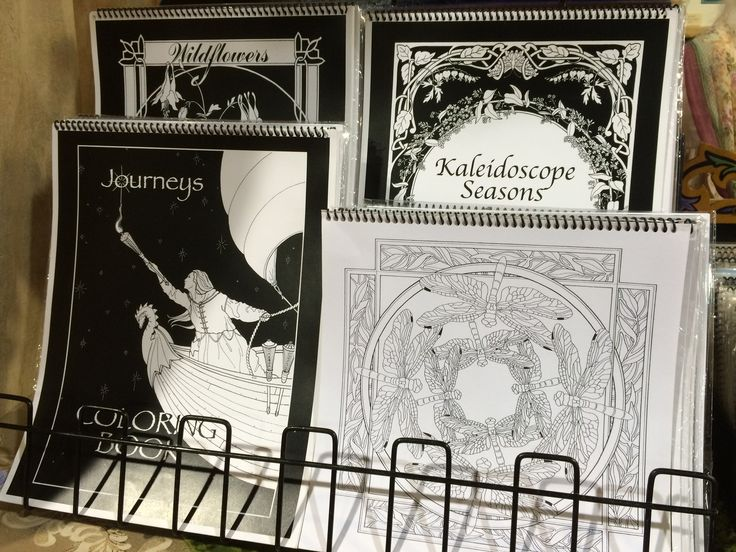 Coloring books - not just for kids anymore! Nancy Bright has turned her illustrations into intricate coloring pages.