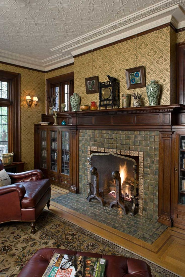 250 best arts crafts fireplaces i love images on pinterest for Craftsman fireplaces photos