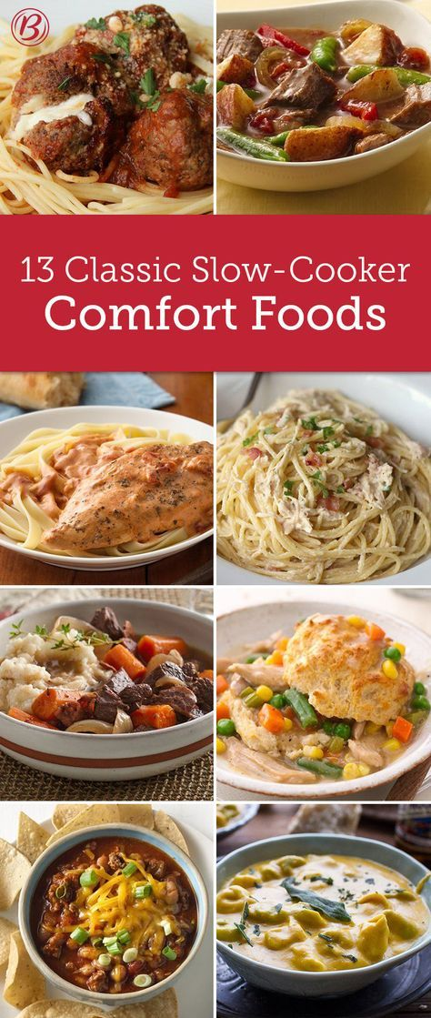 Comfort food and slow cookers go hand-in-hand with these classic, cozy meals that are ready when you walk in the door. From hearty pastas to classic pot pies, these are the recipes you'll turn to all winter long.