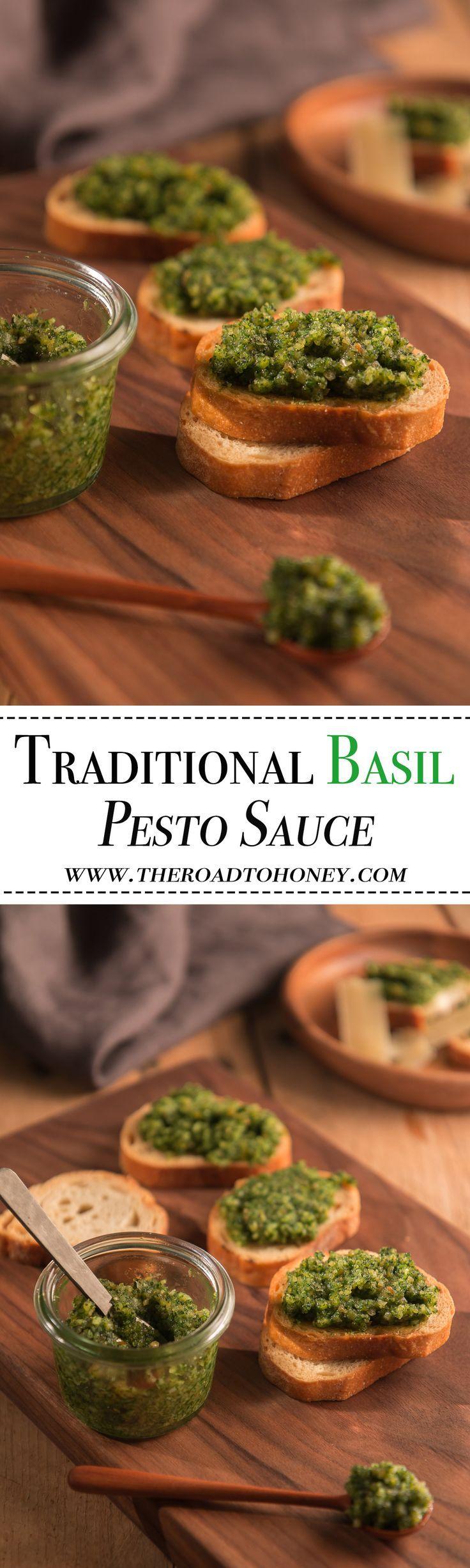 Traditional Basil Pesto Sauce