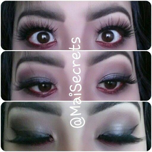 My eye makeup look for vampire