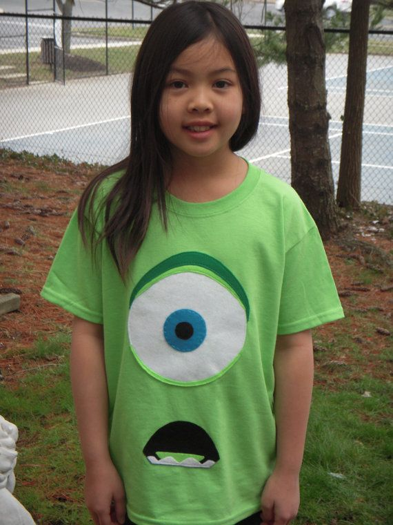 MIKE (one-eyed monster) T-Shirt Applique for Kids - Inspired by Monsters Inc. via Etsy