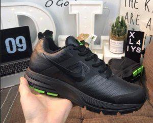 eb027f188528 ... usa mens nike air pegasus 30 leather triple black green running shoes  nike air pegasus triple