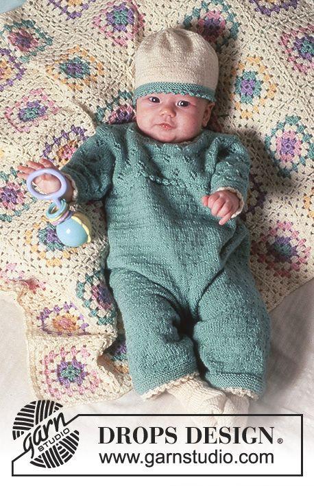Hint of Mint / DROPS Baby 4-17 - Sparkedragt eller kjole med hulmønster i BabyMerino