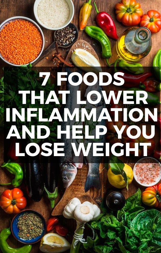 Several studies have linked chronic inflammation to weight gain. In this quick guide, we'll look at that link, plus 7 foods that can help you lower inflammation and your weight.