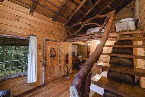 Diseño de escalera rústica