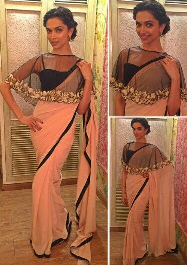 Deepika Padukone wearing Payal Singhal for her movie Bajirao Mastani Promotions