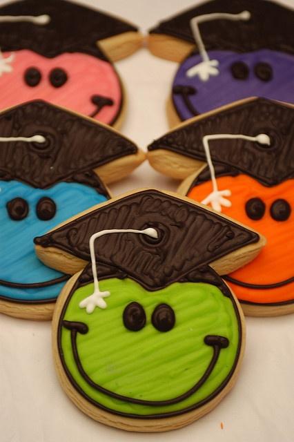 Smile Graduate - decorted cookie favors by bundlesofcookies, via Flickr