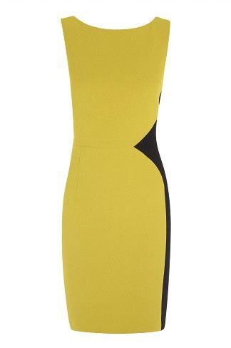 Colour Block Crepe Dress