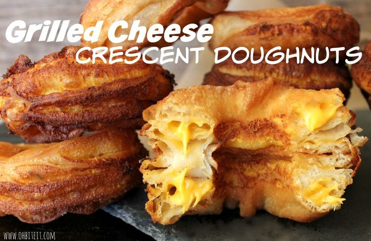 Grilled Cheese Crescent Doughnuts by Oh, Bite It!