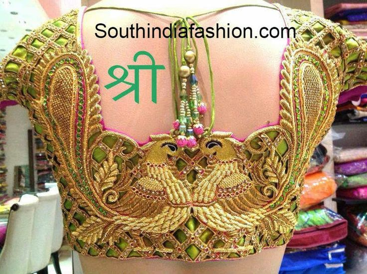 Cut Work Bridal Peacock Blouse ~ Celebrity Sarees, Designer Sarees, Bridal Sarees, Latest Blouse Designs 2014