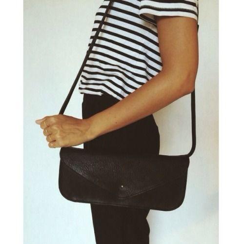 Stripes for Anika.  #bag #leather #black #white #blackandwhite #stripes #handmade #madeinitaly #ciao