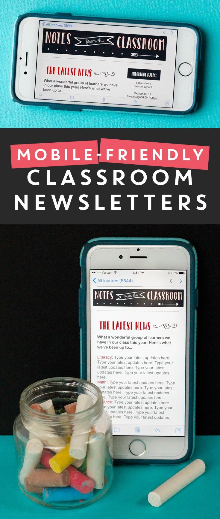 Send mobile-friendly classroom newsletters. Parents love them, and they're a great time-saver for teachers! Click here for the FREE tutorial.