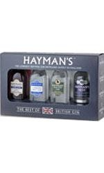 Haymans - Best of British Gin Gift Set 4 of Haymans Classic Premium Gins  4x 5cl Miniatures