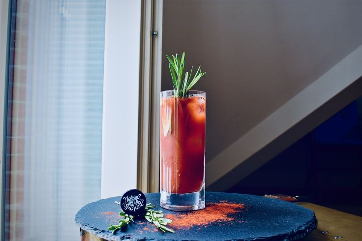 For those who like it Extra-Spicy.   Bloody Mary with Snow Queen Vodka , organic tomato juice, tabasco sauce, worcestershire sauce, celery salt and ground Black Pepper.