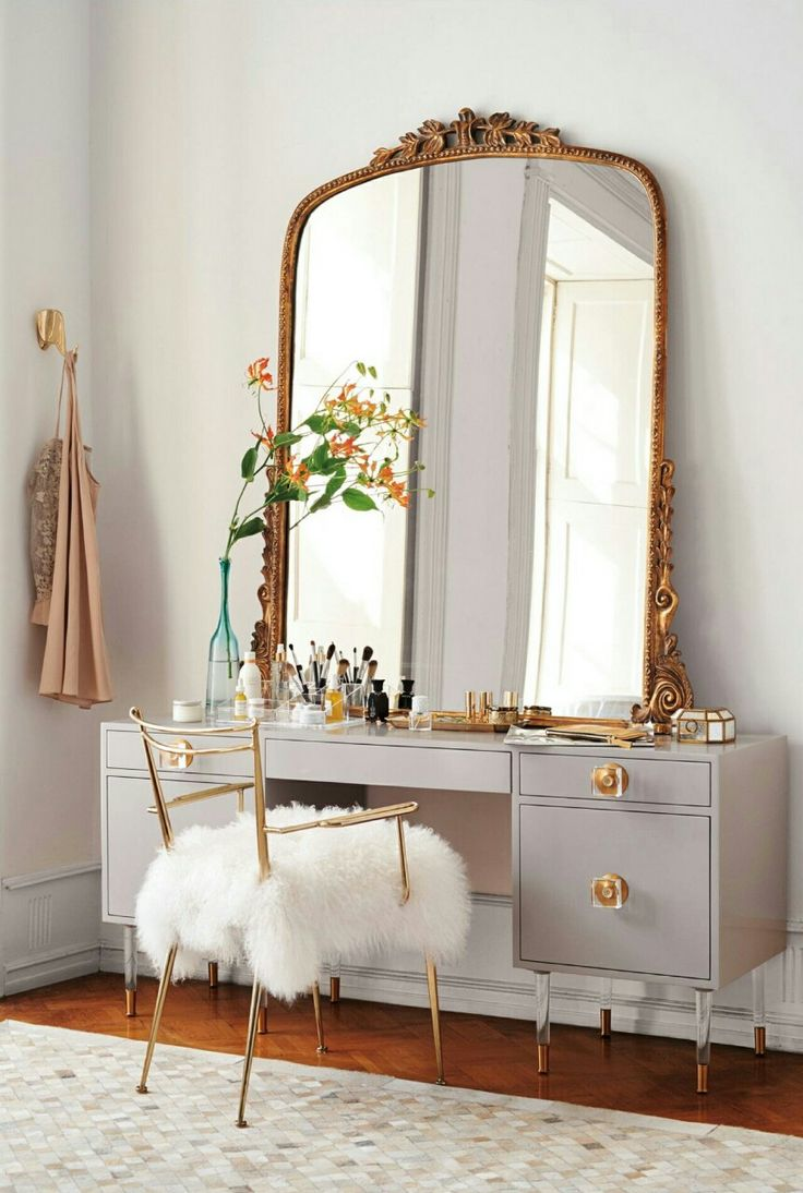 Best  Vintage Vanity Ideas On Pinterest Vintage Makeup - Mirrored makeup vanity set