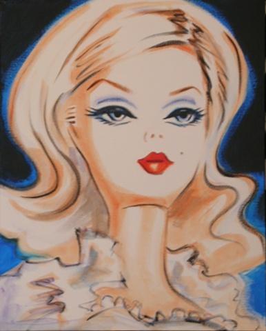 Barbie Art - Debbie Curtis