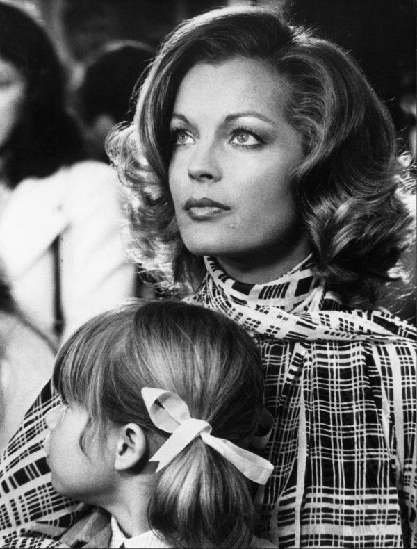 Romy Schneider et  l'enfant