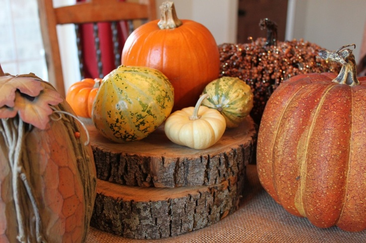 Simple & cheap fall decorations for the dinner table
