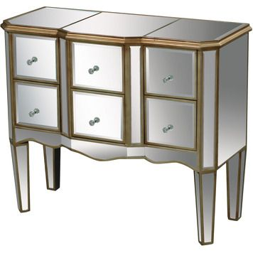 Antwerp Chest in Gold   Sterling   Home Gallery Stores   Mirrored  FurnitureAccent. 166 best Mirrored Furniture images on Pinterest   Bedroom