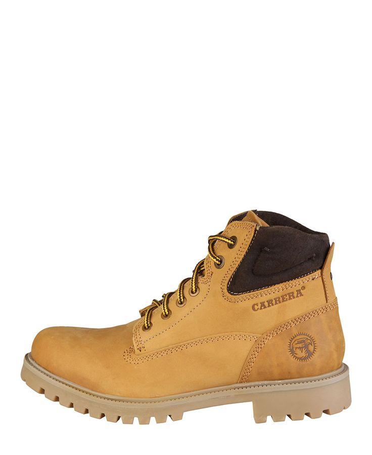 Carrera jeans - scarponcini invernali in nabuk per uomo carrera jeans, con collarino imbottito e fondo pesante. - stival - Stivaletto uomo  Marrone