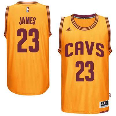 Men's LeBron James Cleveland Cavaliers adidas Gold Swingman Jersey