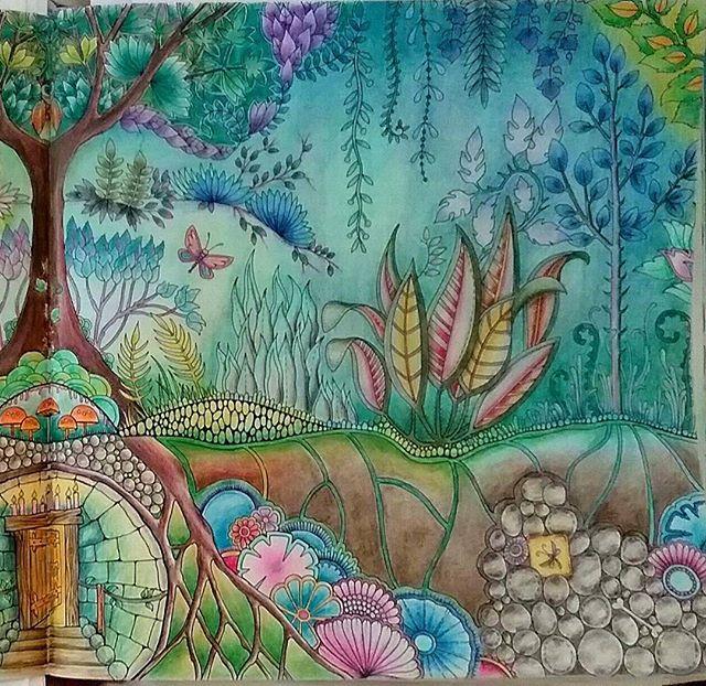 Enchantedforest Foretenchantee Coloringbook Livredecoloriage Johannabasford Coloriage