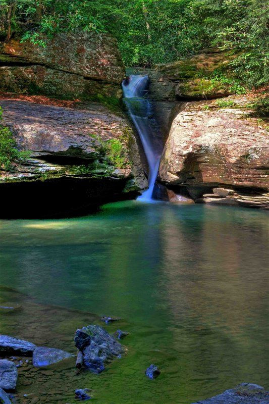 """""""The Chute"""" at Holly River State Park, WV.....beautiful place....may go back here soon"""