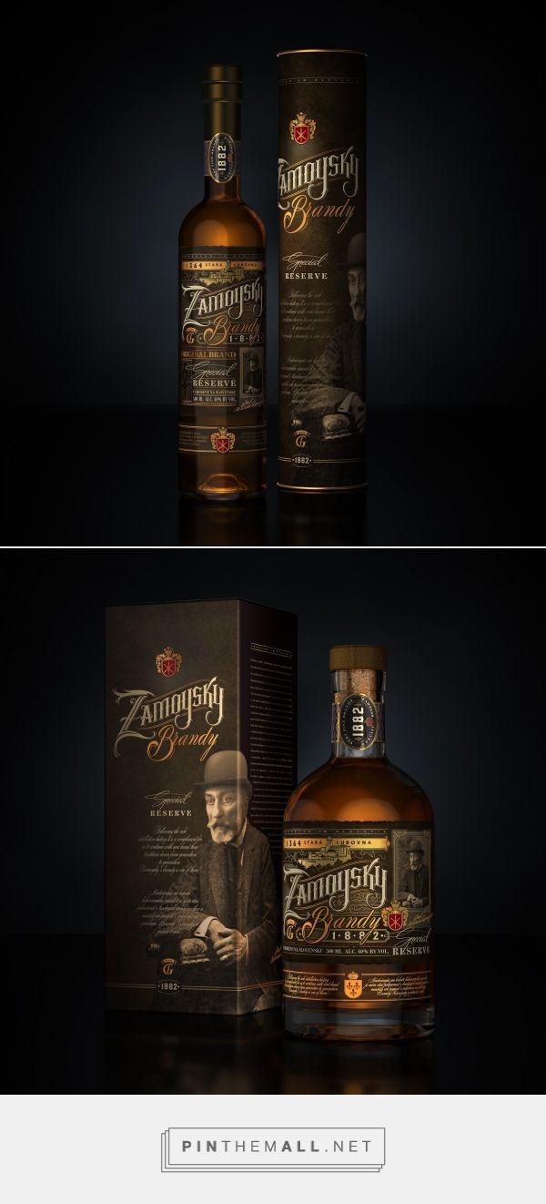 Zamoysky Brandy packaging design by DSG Creative Design Production - https://www.packagingoftheworld.com/2018/02/zamoysky-brandy.html