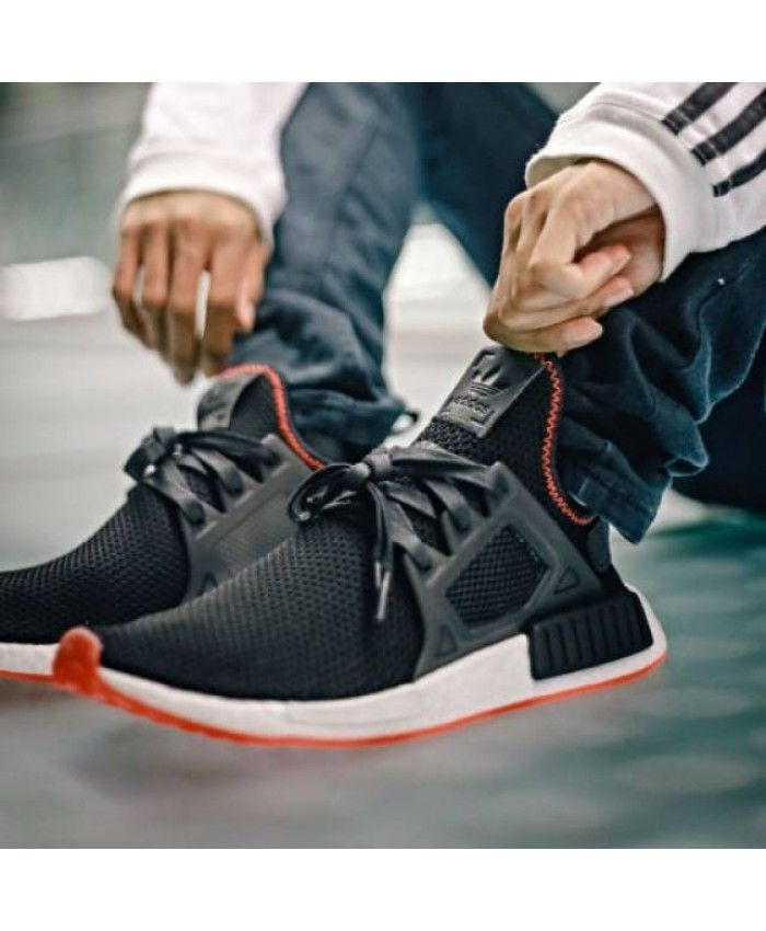 1661688f8755c Adidas NMD Xr1 Core Black Solar Red Trainers Sale UK
