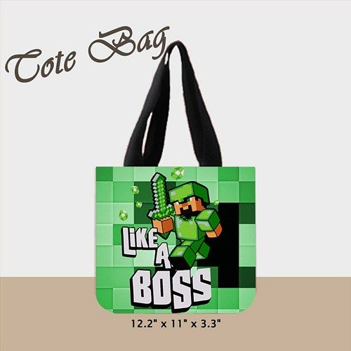 """Custom Tote Bag 02  (2 sides)  A great every day bag to take you through your day!  Product Details Size: 12.2"""" x 11"""" x 3.3"""" This 100% heavyweight 10 oz cotton canvas tote bag carries all of your good"""