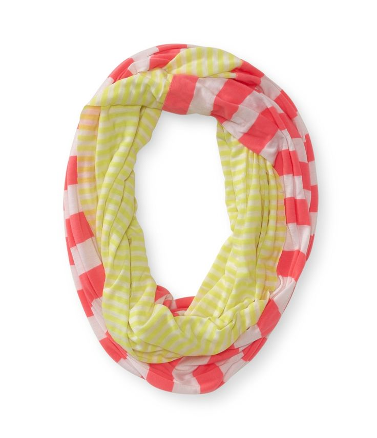 Mixed striped infinity scarf from Aeropostale