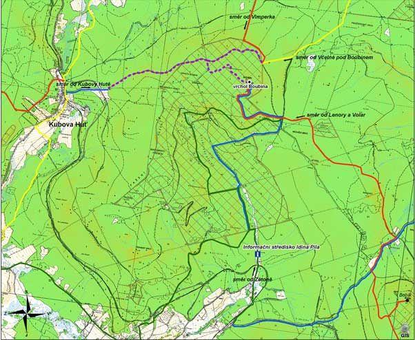 Boubín, Boubínský prales - změna přístupu na vrchol - - Naučné stezky v CHKO - Národní park Šumava