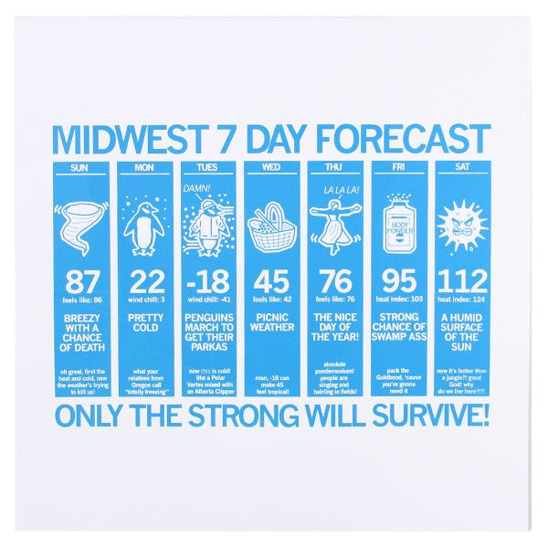 Midwest Forecast Poster by raygun #Illustration #Midwest # ...