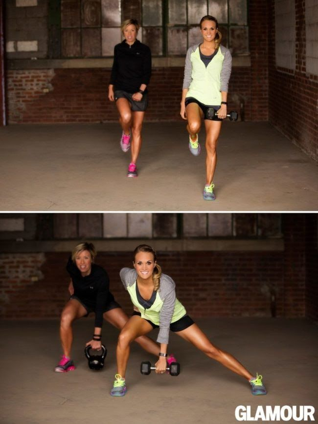 carrie underwood leg workout lateral lunge